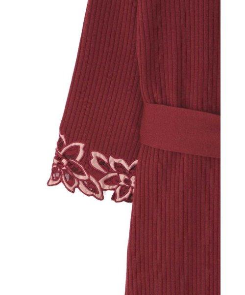 PROPORTION BODY DRESSING(プロポーション ボディドレッシング)/ハートネック袖レースリブニットワンピース/1218240907_img27