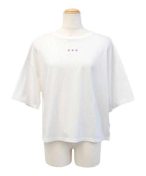 ANDJ(ANDJ(アンドジェイ))/三ツ星刺繍ゆるTシャツ/ts76x03991_img21