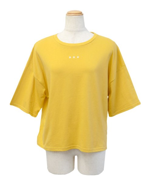 ANDJ(ANDJ(アンドジェイ))/三ツ星刺繍ゆるTシャツ/ts76x03991_img22