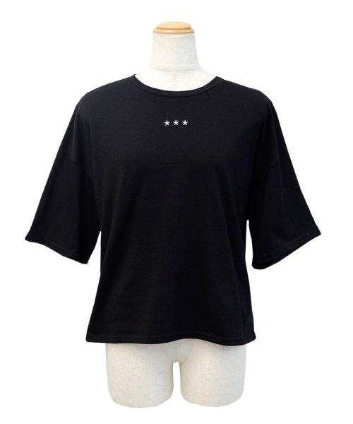 ANDJ(ANDJ(アンドジェイ))/三ツ星刺繍ゆるTシャツ/ts76x03991_img24