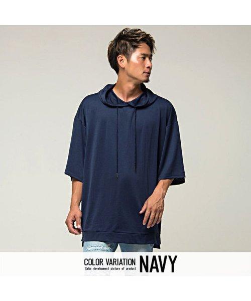 VICCI(ビッチ)/VICCI【ビッチ】メンズ フード付きビッグシルエット6分袖Tシャツ/VIRE18-16_img03