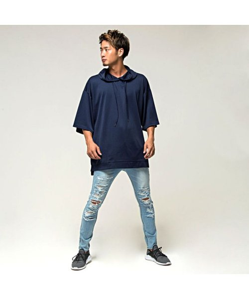 VICCI(ビッチ)/VICCI【ビッチ】メンズ フード付きビッグシルエット6分袖Tシャツ/VIRE18-16_img04