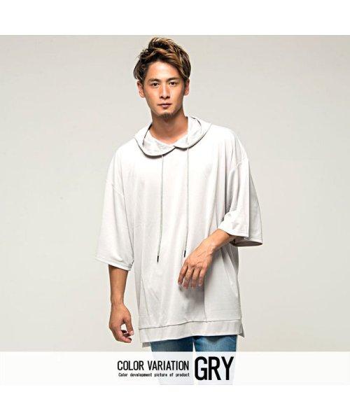 VICCI(ビッチ)/VICCI【ビッチ】メンズ フード付きビッグシルエット6分袖Tシャツ/VIRE18-16_img08