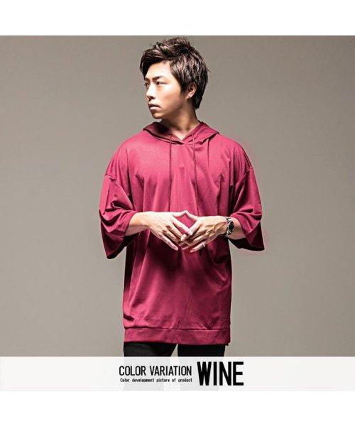 VICCI(ビッチ)/VICCI【ビッチ】メンズ フード付きビッグシルエット6分袖Tシャツ/VIRE18-16_img10