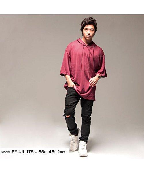 VICCI(ビッチ)/VICCI【ビッチ】メンズ フード付きビッグシルエット6分袖Tシャツ/VIRE18-16_img11