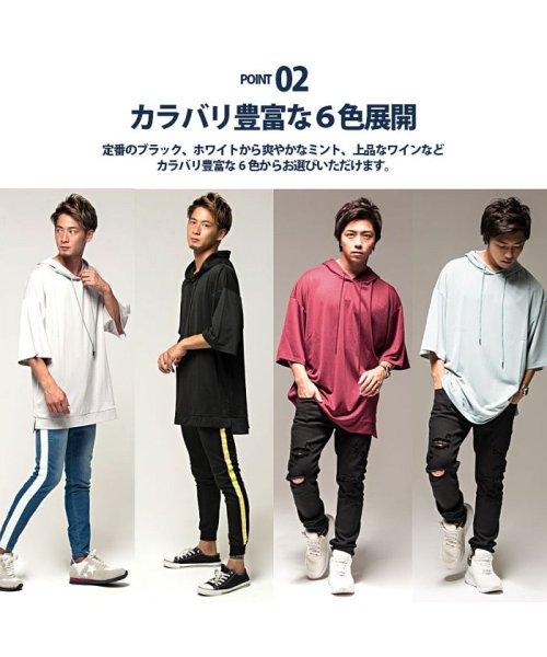 VICCI(ビッチ)/VICCI【ビッチ】メンズ フード付きビッグシルエット6分袖Tシャツ/VIRE18-16_img20
