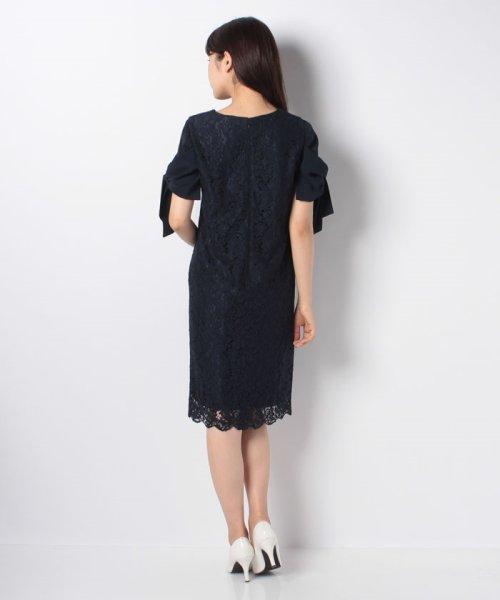 Eimy Peral(エイミーパール(ドレス))/ミゴロレース半袖シフォンリボン付ドレス/728849_img05