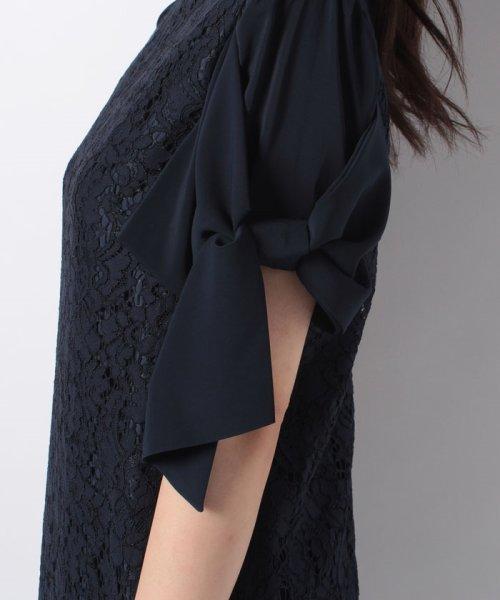Eimy Peral(エイミーパール(ドレス))/ミゴロレース半袖シフォンリボン付ドレス/728849_img07