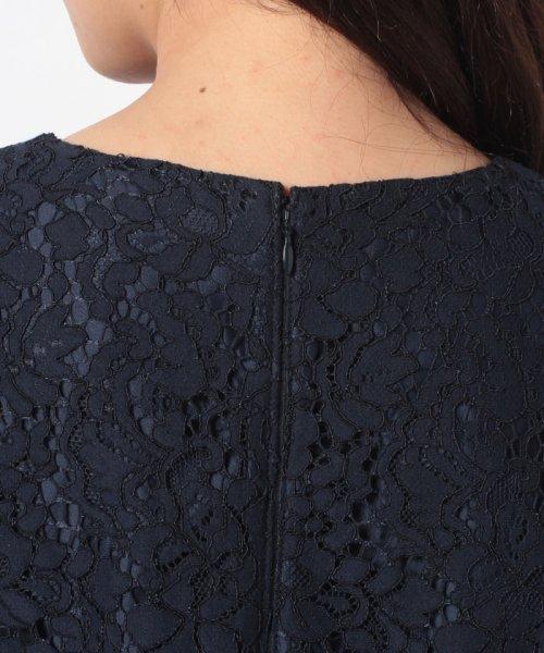 Eimy Peral(エイミーパール(ドレス))/ミゴロレース半袖シフォンリボン付ドレス/728849_img08