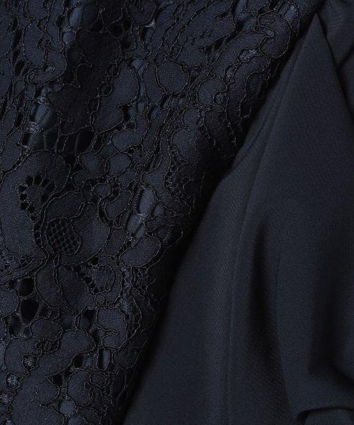 Eimy Peral(エイミーパール(ドレス))/ミゴロレース半袖シフォンリボン付ドレス/728849_img09