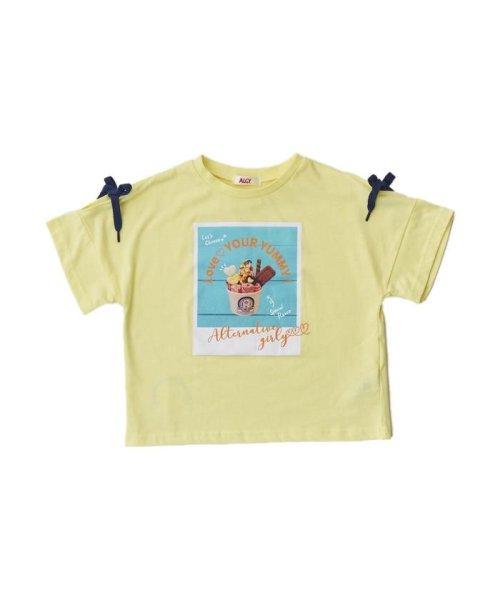 ALGY(アルジー)/RICFコラボりぼん袖T_ロールアイスクリームファクトリー/G407918_img01