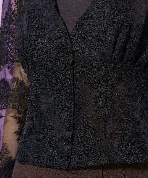 nano・universe(ナノ・ユニバース)/オーガンジーフラワー刺繍ブラウス&キャミソール/6698220024_img09