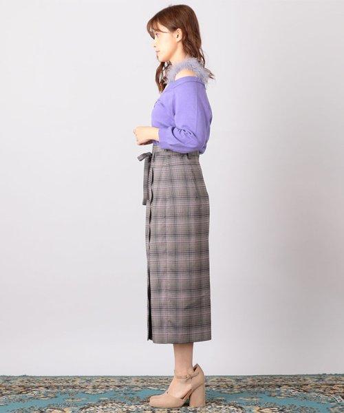 MIIA(ミーア)/ハイウエストスカラップタイトスカート/32831216_img01