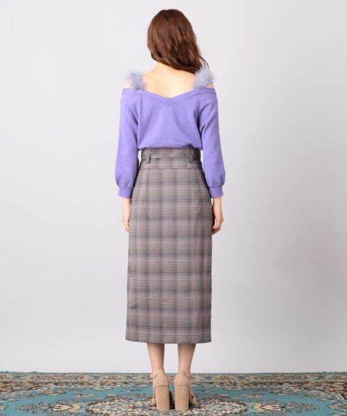 MIIA(ミーア)/ハイウエストスカラップタイトスカート/32831216_img02