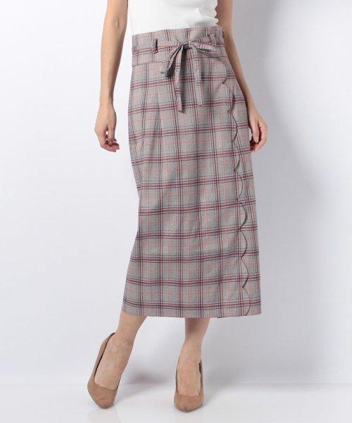 MIIA(ミーア)/ハイウエストスカラップタイトスカート/32831216_img15