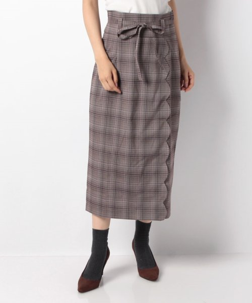 MIIA(ミーア)/ハイウエストスカラップタイトスカート/32831216_img16