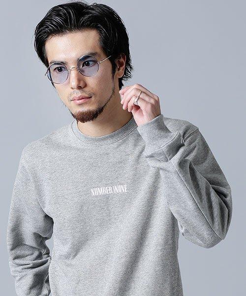 nano・universe(ナノ・ユニバース)/【WEB限定】 NN別注フロッキーロゴクルースウェット/6748223003_img04