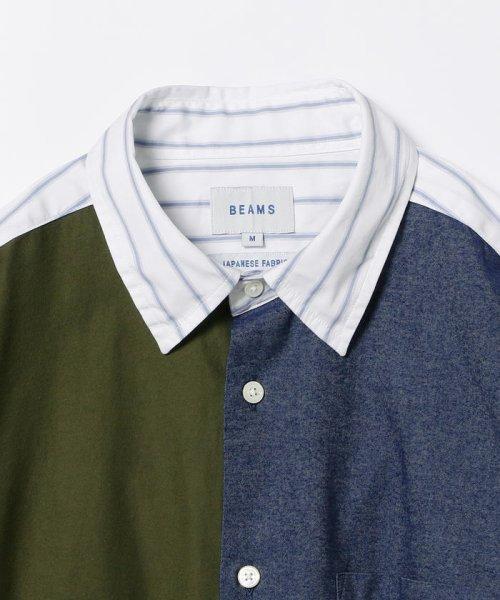 BEAMS OUTLET(ビームス アウトレット)/BEAMS / パネル フランネル ミニレギュラーシャツ/11110946301_img09
