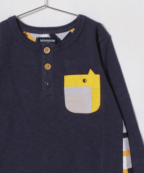 kladskap(クレードスコープ)/動物ポケット前後切り替えTシャツ/5383218_img02