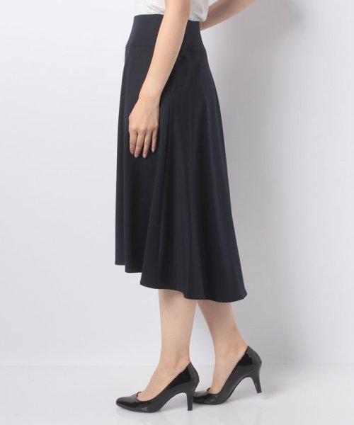 LAPINE BLEUE(ラピーヌ ブルー)/【洗える】ギャバストレッチフレアースカート/239521_img01