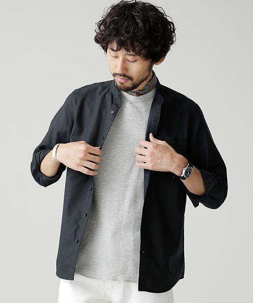 nano・universe(ナノ・ユニバース)/【WEB限定商品】オックスバンドカラーシャツ/6748220002_img13