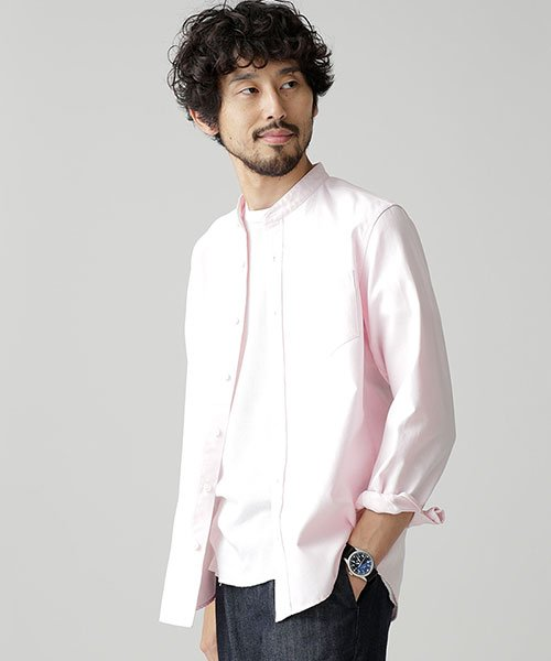nano・universe(ナノ・ユニバース)/【WEB限定商品】オックスバンドカラーシャツ/6748220002_img16