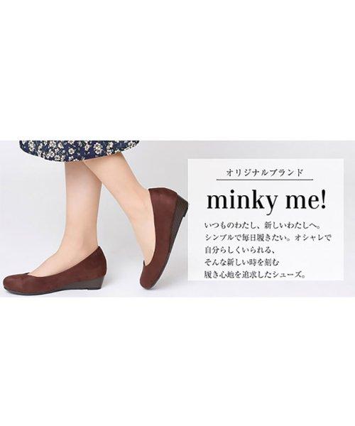 minky me!(ミンキーミー)/ラウンドトゥローウェッジ走れるキレイめパンプス /M2601ATH_img02