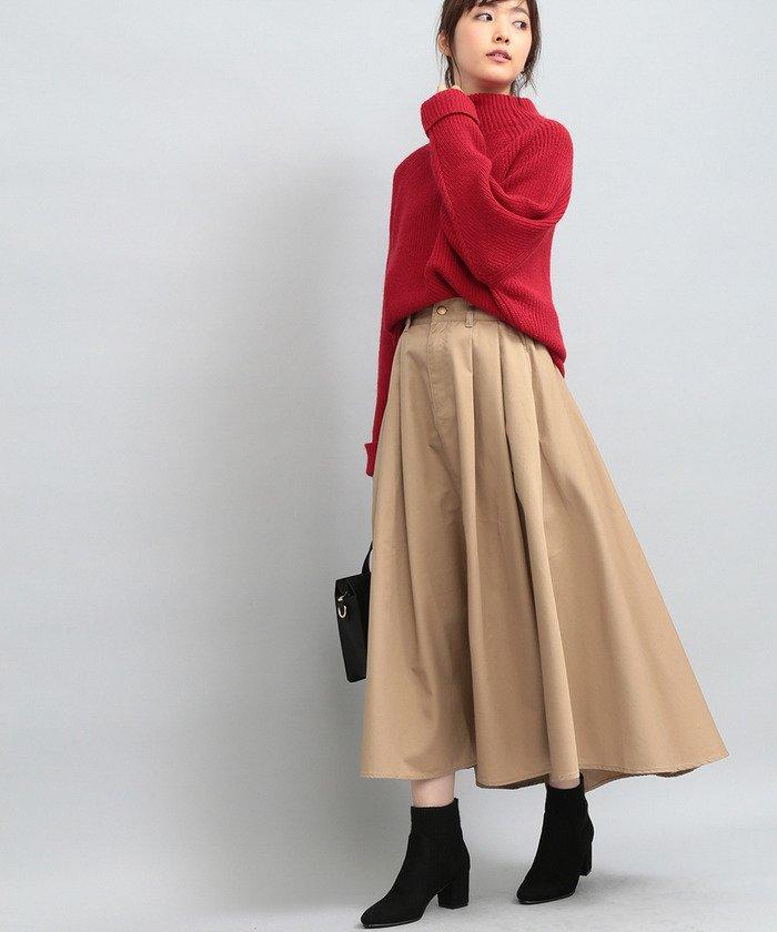 ビス  【WEB限定】チノボリュームスカート