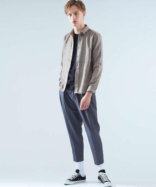 ABAHOUSE(ABAHOUSE)/フェイクスウェードワイヤーシャツ/00370010006_img02
