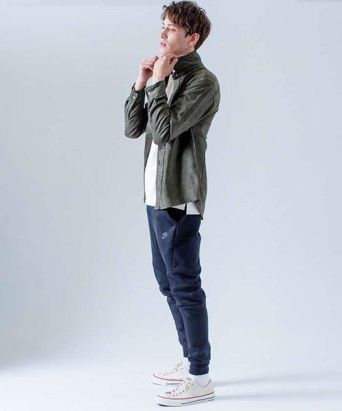 ABAHOUSE(ABAHOUSE)/フェイクスウェードワイヤーシャツ/00370010006_img04