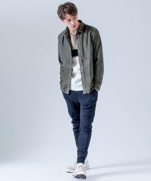 ABAHOUSE(ABAHOUSE)/フェイクスウェードワイヤーシャツ/00370010006_img05