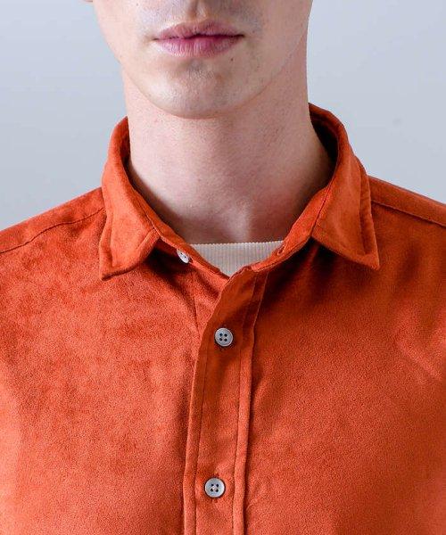 ABAHOUSE(ABAHOUSE)/フェイクスウェードワイヤーシャツ/00370010006_img09