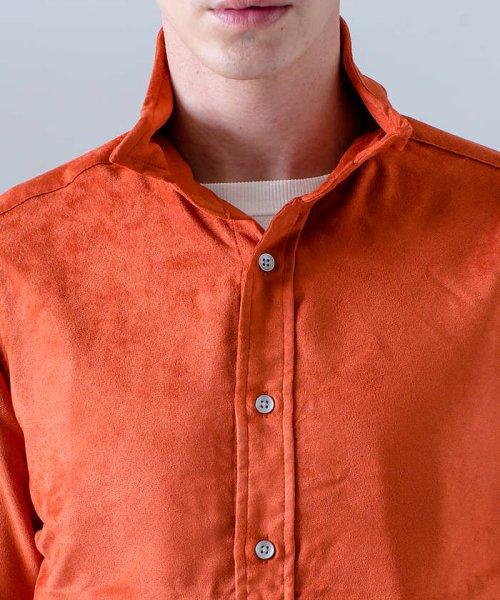 ABAHOUSE(ABAHOUSE)/フェイクスウェードワイヤーシャツ/00370010006_img10