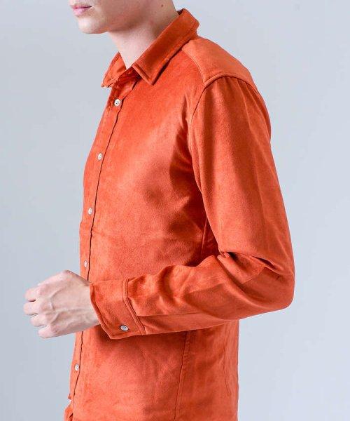 ABAHOUSE(ABAHOUSE)/フェイクスウェードワイヤーシャツ/00370010006_img11