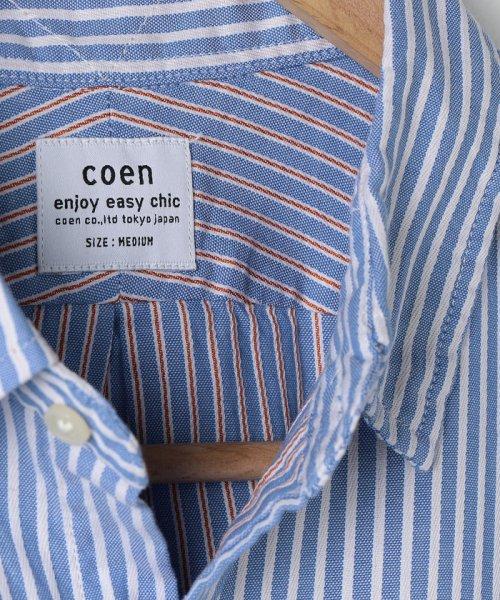 coen(コーエン)/オックスフォードドビーストライプレギュラーカラーシャツ/75106048108_img07