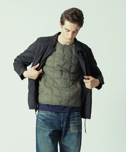 TAION(TAION)/CREW NECK BUTTON DOWN JACKET/TAION104_img03