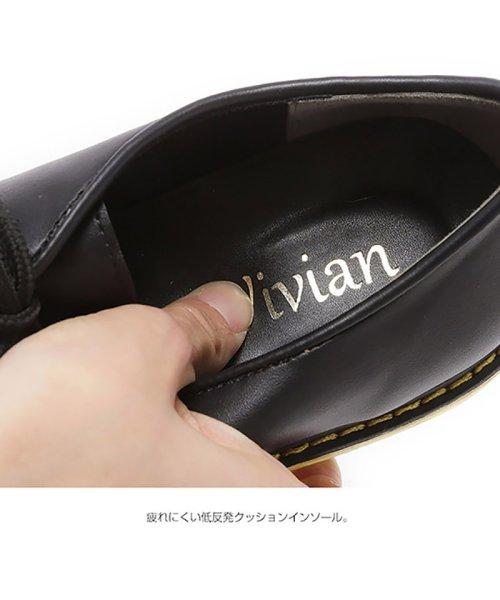 Vivian(ヴィヴィアン)/レースアップマニッシュラバーソールシューズ/V9001ATH_img05