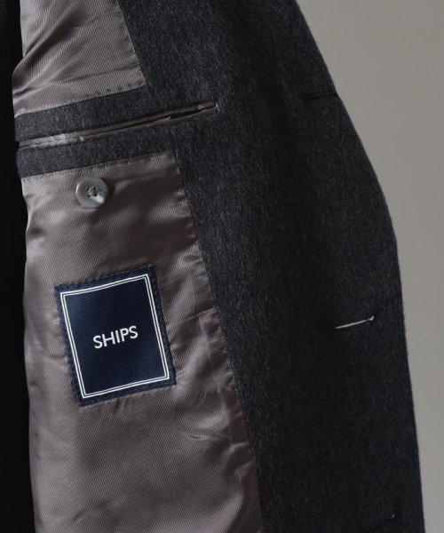 SHIPS MEN(シップス メン)/SD: ウール/カシミヤ ソリッド ショート チェスターコート(ダークグレー)/114150352_img10