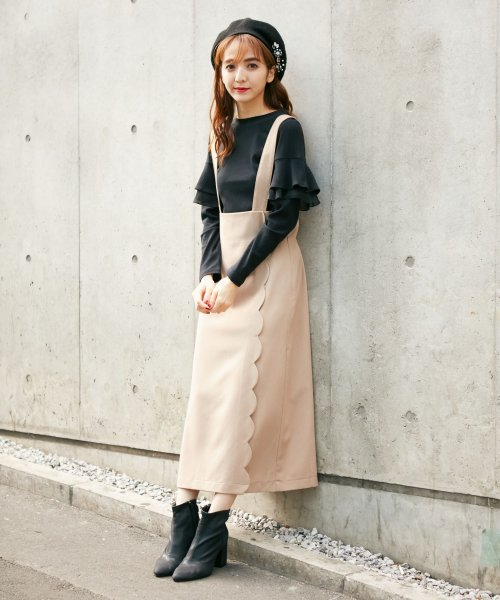 MIIA(ミーア)/スカラップジャンパースカート/32844011_img01