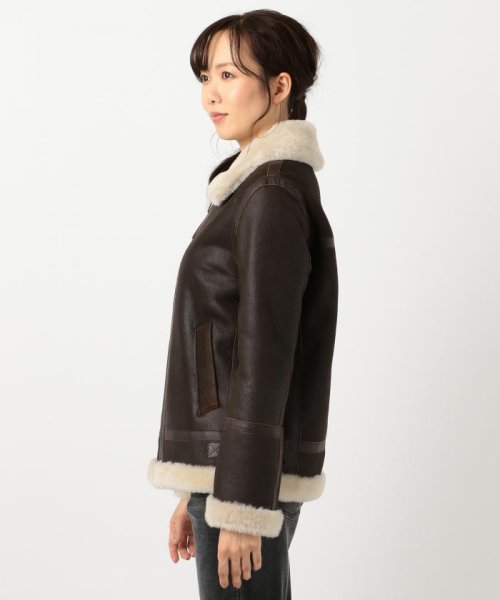 NIJYUSANKU(SMALL SIZE)(23区(小さいサイズ))/Antique Shor tHair Mouton ムートンコート/CMWSYW0403_img05