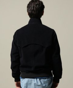 Wool Corduroy Golf Jacket 18011610011030: Navy