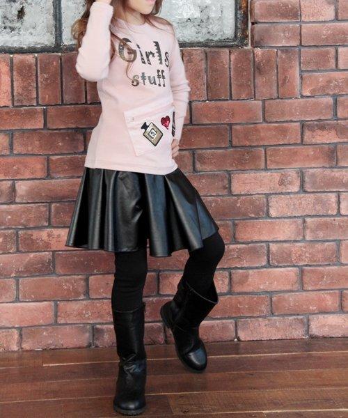 Rora(ローラ)/Rora ブラックスカートパンツ/10005284_img02