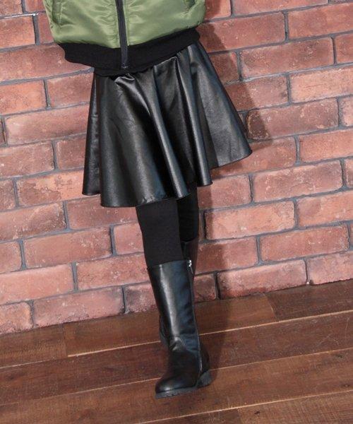 Rora(ローラ)/Rora ブラックスカートパンツ/10005284_img05