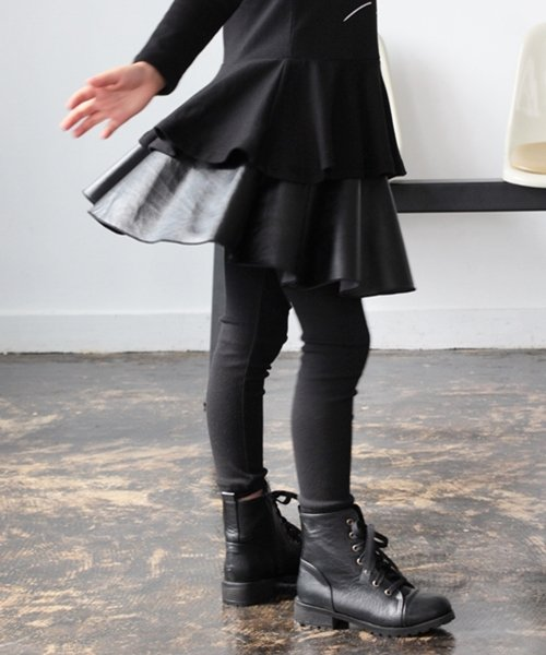 Rora(ローラ)/Rora ブラックスカートパンツ/10005284_img08