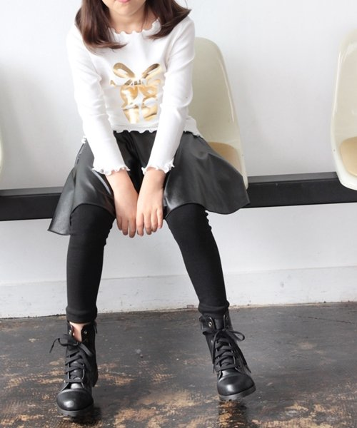 Rora(ローラ)/Rora ブラックスカートパンツ/10005284_img09