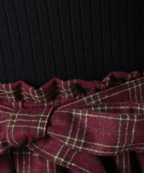 MIIA(ミーア)/【ルミネ店&WEB限定】サイドプリーツニットドッキングワンピース/34833011_img14