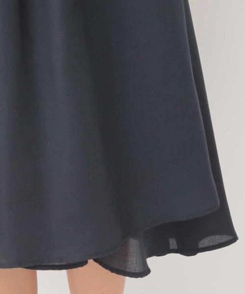 MK MICHEL KLEIN(エムケーミッシェルクラン)/【洗える】ベルト付きイレヘムミディスカート/FKHJF34130_img05