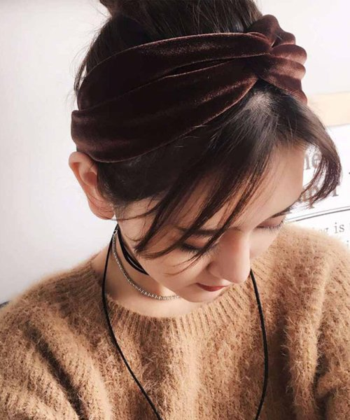 miniministore(ミニミニストア)/ベロア ヘアバンド レディース 幅広 ヘアアクセサリー 髪飾り 雑貨 無地 ヘッドバンド/1MIS-002_img13