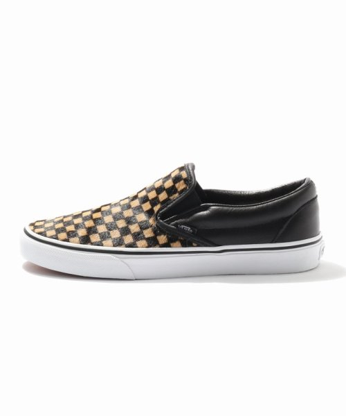 JOURNAL STANDARD relume Men's(ジャーナルスタンダード レリューム メンズ)/VANS / ヴァンズ CLASSIC SLIP-ON - CALF HAIR CHECKER/18093465003230_img01