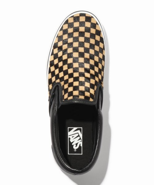 JOURNAL STANDARD relume Men's(ジャーナルスタンダード レリューム メンズ)/VANS / ヴァンズ CLASSIC SLIP-ON - CALF HAIR CHECKER/18093465003230_img04